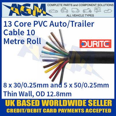 Durite 0-999-63 13 Core PVC Auto/Trailer Cable