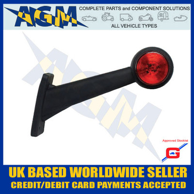 led, uk, light, white, red, ML71RH, Right, Side Truck, Outline Marker, Guardian, Rubber, AGM, Parts, Components,