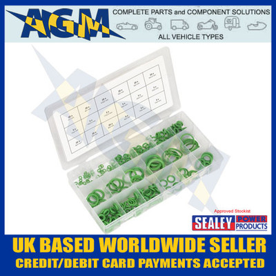 Sealey, Automotive, Air Conditioning, Rubber, O-Ring, Assortment, 225pc, ACOR225