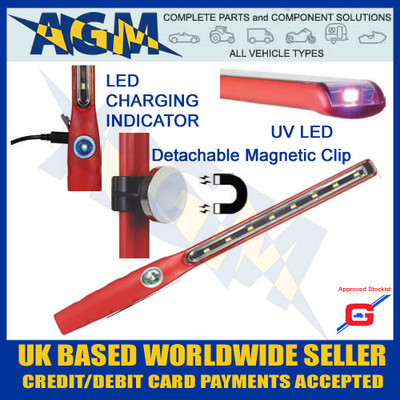 guardian hl40 Inspection torch, led rechargeable Inspection Lamp, with uv, LED vehicle inspection lamp, hl40
