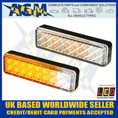 LED Autolamps 135AWM Clear Effect 12/24v Front Indicator / Position Lamp