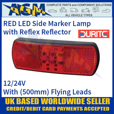 Durite 0-171-55 RED LED Side Marker Lamp with Leads