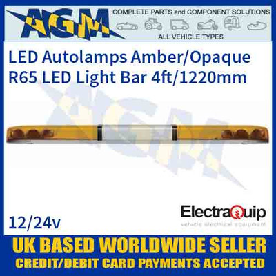 EQLB482WA/O LED Lighter Amber/Opaque Twin Light Module 4ft/1220mm