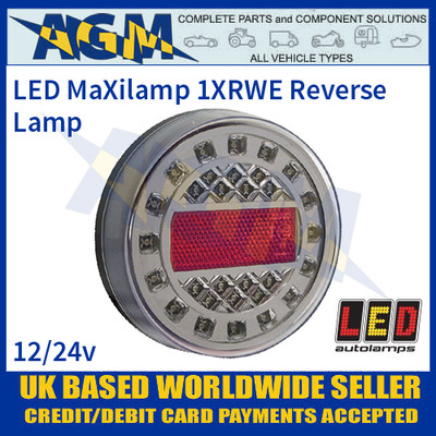 LED Autolamps 1XRWE MaXilamp LED Reverse Lamp, 12-24v