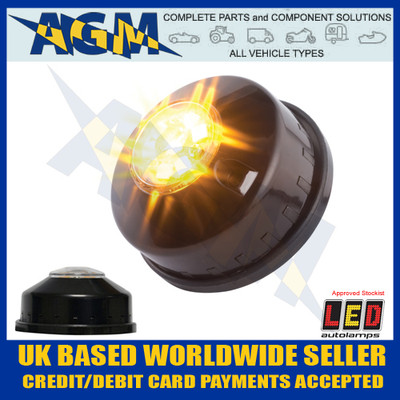 led, autolamps, haled6dva, hideaway, warning, lamp, 12v, 24v