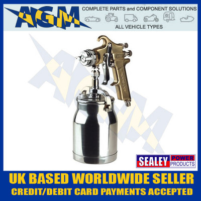 sealey, s701, spray, gun, gold, professional, suction, feed. 1.8mm, spraygun