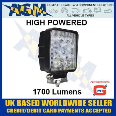 guardian, wl50hp, wl50,  led, 1700, lumens, 12v, 24v, search, work, light, lamp, high, power