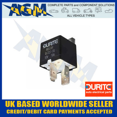 durite, 0-727-70, 072770, mini, heavy, duty, make, break, 12v, relay