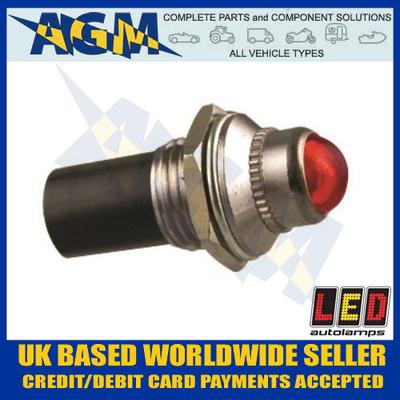 led, autolamps, plr24, red, 24v, pilot, light
