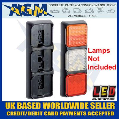 led, autolamps, 80b3v, vertical, triple, mounting, bracket