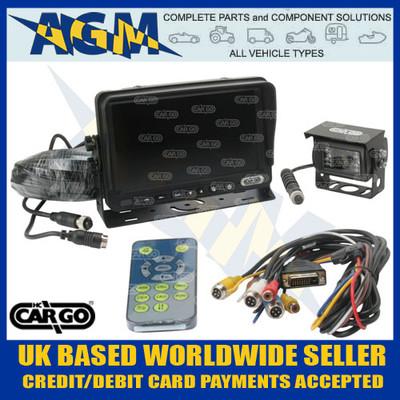 "cargo, 161051, cctv, 7"", colour, monitor, reversing, camera, kit, 12v, 24v"