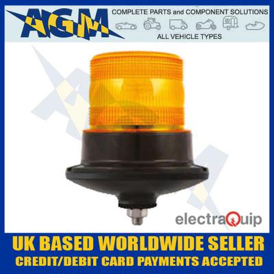 electraquip, eqpr65abm-sb, single, bolt, r65, led, amber, beacon