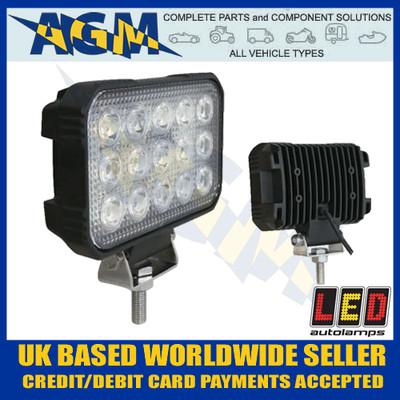 led, autolamps, 15045bm, rectangular, flood, lamp, 12v, 24v
