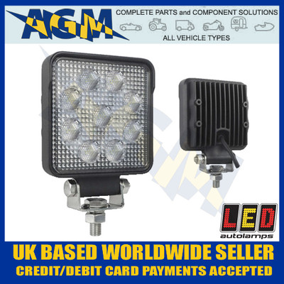 led, autolamps, 10015bm, square, flood, lamp, 12v, 24v