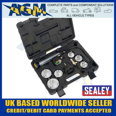 Sealey CV0011 Commercial Vehicle Cooling System Pressure Test Kit
