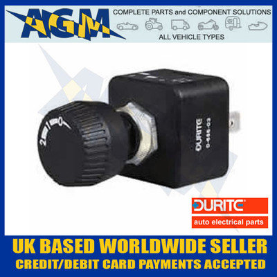durite, 0-656-03, splash, proof, three, position, rotary, on, off, switch