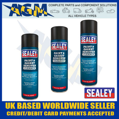 sealey, scs042, paint, gasket, remover, cleaner, 500ml, aerosol, spray