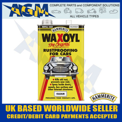 hammerite, wax5n, clear, waxoyl, 5l, refill, tin