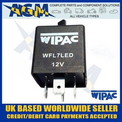 wipac, wfl7led, 4pin, led, flasher, unit