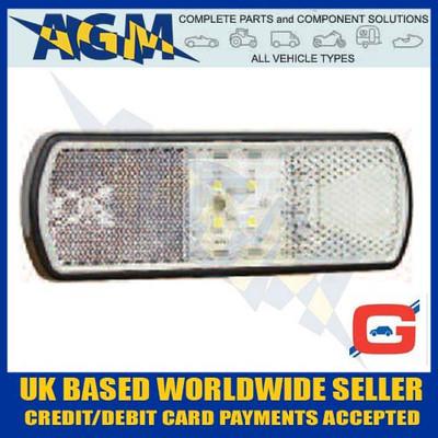 guardian, pe562, clear, led, marker, lamp, reflector, superseal, plug, 12v, 24v