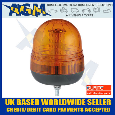 Durite 0-445-06 Multi-Function Amber Single Bolt LED Beacon - 12/24v