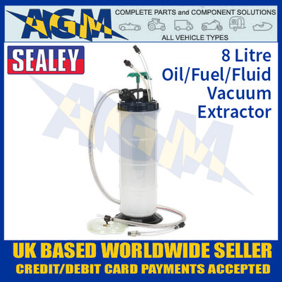 Sealey TP204 8 Litre Capacity Vacuum Oil/Fuel/Fluid Extractor