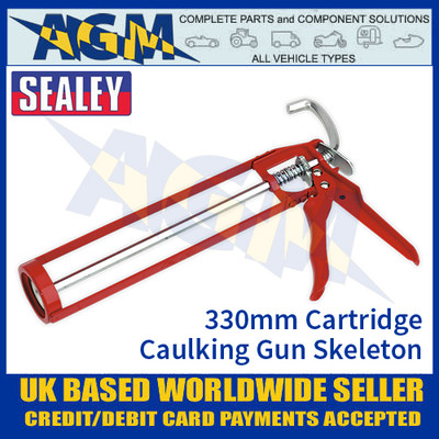 Sealey AK39 Caulking Gun Skeleton Type Manual 330mm
