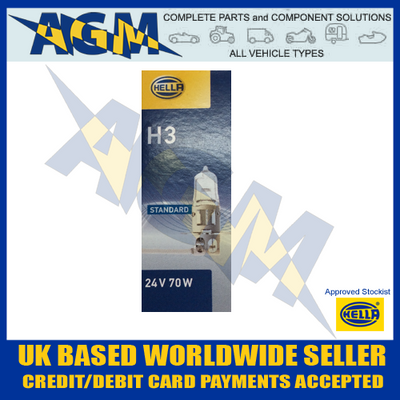 HELLA HB460 24v H3 Halogen Bulb (Pack of 10)