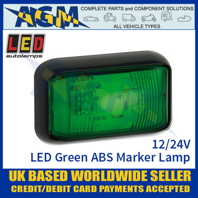 LED Autolamps 58GME LED Green ABS Marker Lamp Light 12/24v