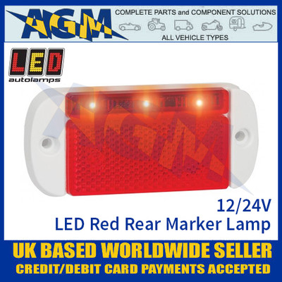 LED Autolamps 44WRME LED Red Rear Marker Lamp Light 12/24v