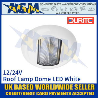 Durite 0-668-27 Roof Lamp Dome LED White, 12/24V, IP67, ECE R10