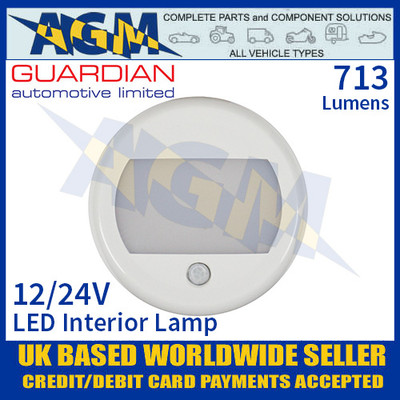 Guardian Automotive INT53 LED Interior Light with PIR Sensor 12/24V