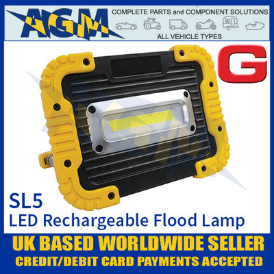 Guardian Automotive SL5 LED Rechargeable Flood/Work Lamp, 1000 Lumens