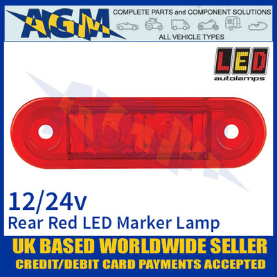 LED Autolamps 7922RMB LED Red Rear Marker Lamp Light 12/24v