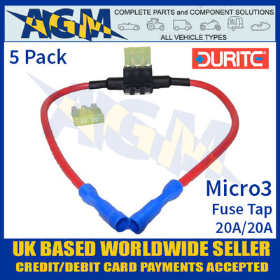 fuses & fuse boxes, auto electrical fuses, fuses for all vehicles  0 371 99 durite 20a 20a micro3 fuse tap, fuse tap micro3
