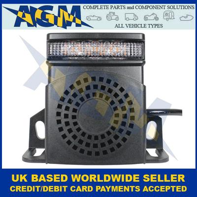 Guardian RA26, Multi Function Reverse Alarm,  Integral Amber LED Warning Light, 10-80v
