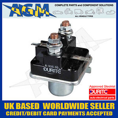Duirte 0-335-02 Chassis Mount Starter Solenoid 12v with Cold Start Terminal