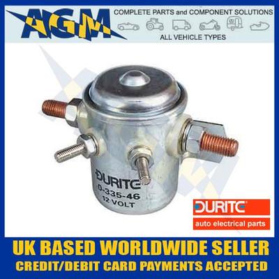 Durite Universal 12 Volt Solenoid 4 Terminals + Mounting Bracket
