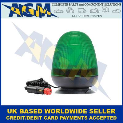 Guardian AMB76G, LED Green Beacon, Magnetic/Suction, 12/24v