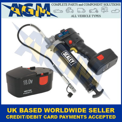Sealey CPG18V, Cordless Grease Gun, With Extra CPG18VBP Battery Pack, UK Only