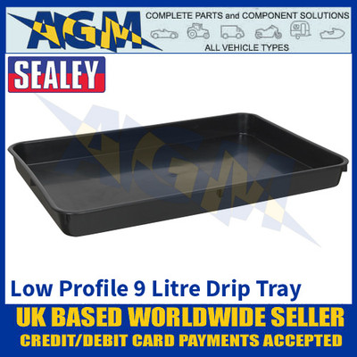 Sealey DRPL09 Low Profile Drip Pan, 9 Litre Capacity, Oil & Fluid Drip Floor Pan