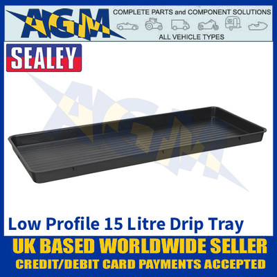 Sealey DRPL15 Low Profile Drip Pan, 15 Litre Capacity, Oil & Fluid Drip Floor Pan