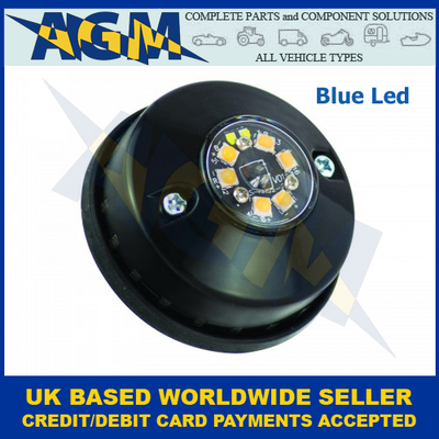 Led Autolamps HALED6DVB, Hideaway Covert, Blue Warning Lamp, 12/24v