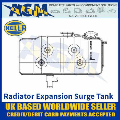 Hella 8MA376705-211 RADIATOR Expansion SURGE TANK OE 42041318 - Single