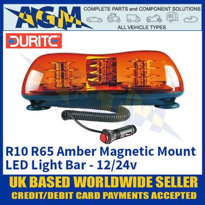 Durite 0-443-85 R10 R65 Amber Magnetic Mount LED Light Bar, 46 LED's, 12/24v