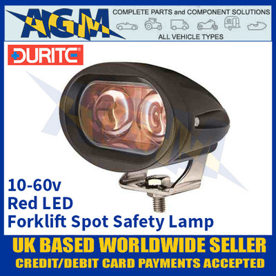 Durite 0-420-83 Forklift Red LED Spot Safety Light/Lamp - Multi-Voltage