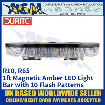 Durite 0-443-45 Amber 1ft 40 SMD LED Magnetic Mount Light Bar, 12/24 Volt