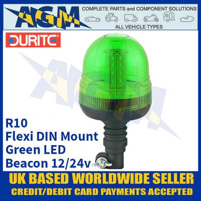 Durite 4-445-24 Flexi DIN Mount Multifunctional Green LED Beacon, 12/24v