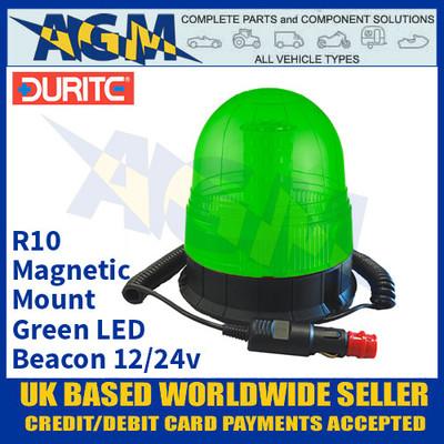Durite 4-445-60 Magnetic Mount Multifunctional Green LED Beacon, 12/24v