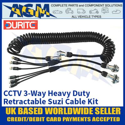 Durite 0-775-93 CCTV 3-Way Heavy-Duty Retractable Suzi Cable Kit